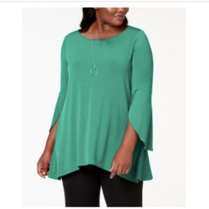 3/$30 Alfani Plus Tulip Sleeve Swing Tunic $65